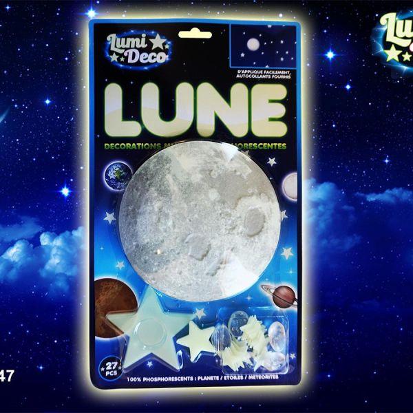 Lune autocollant phosphorescente