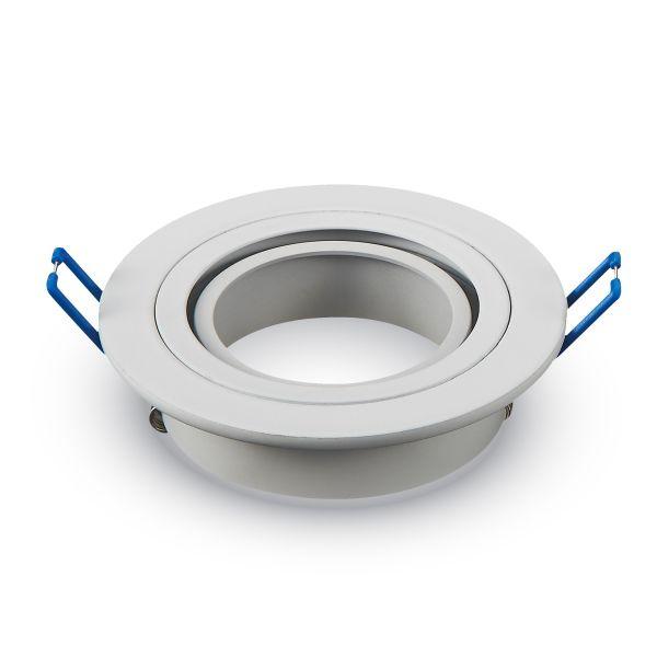 Soporte ajustable redondo de Aluminio blanco
