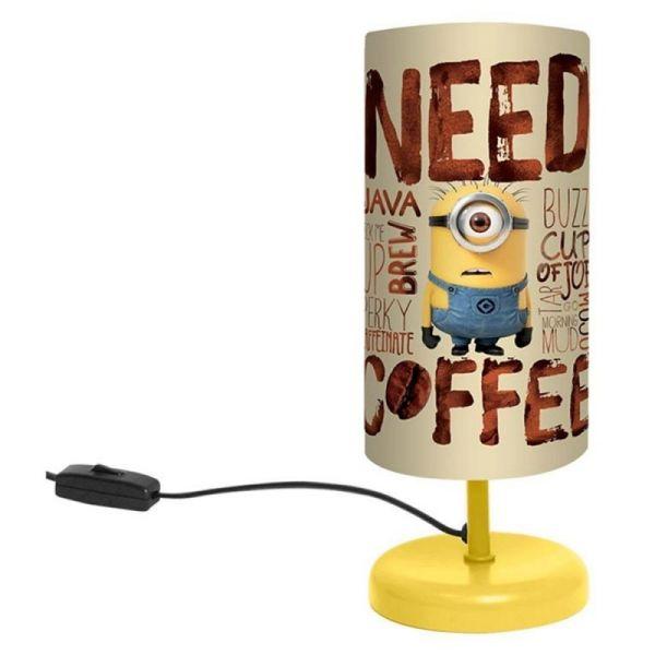 Lampe de chevet Minion 29cm Need Coffee