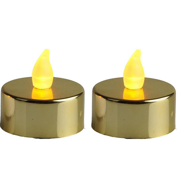 2 bougies LED dorée
