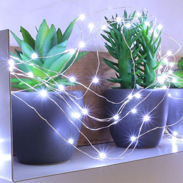 Guirlande 150 micro LED blanc pur animée
