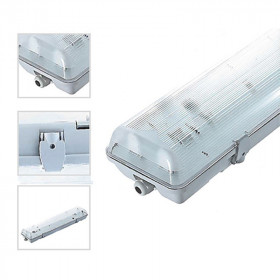 boitier 2x120cm tube led connexion laterale