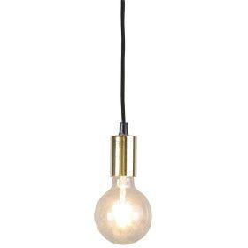 Suspension dorée E27 cable textile