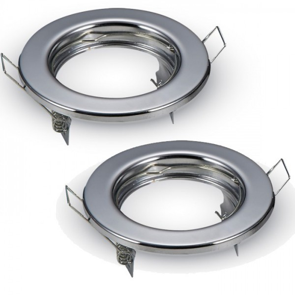 2 supports fixe GU10 Rond Chrome