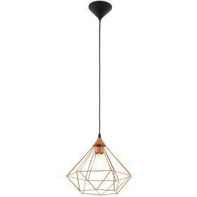 Lampe pendante couleur cuivre Eglo Tarbes D32,5 cm