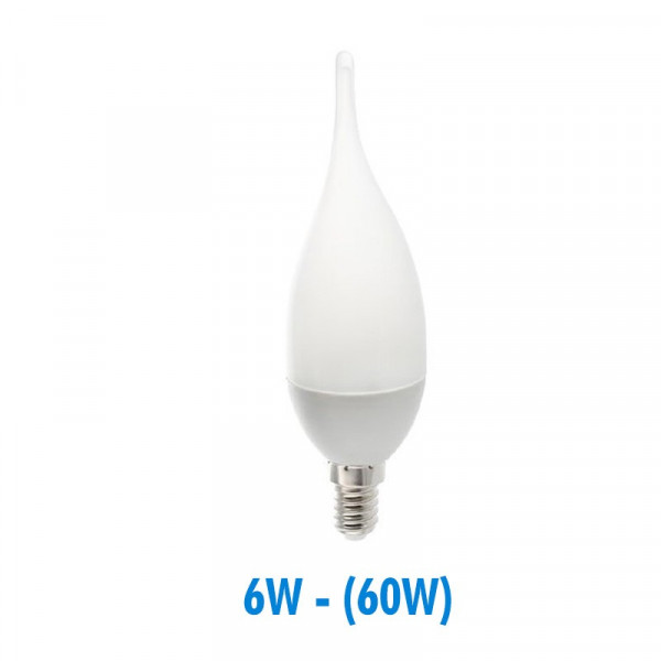 Ampoule Led 6W (60W) E14 Flamme opaque
