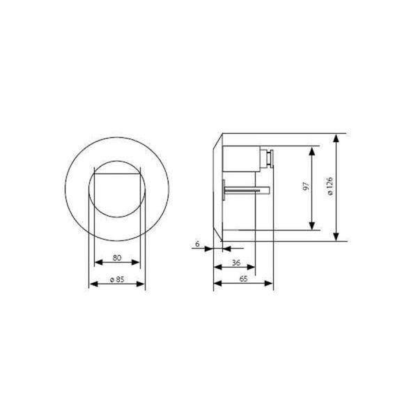 spot rond fixe couleur aluminium dora led j01 encastrable et son bo tier de montage eclairage. Black Bedroom Furniture Sets. Home Design Ideas
