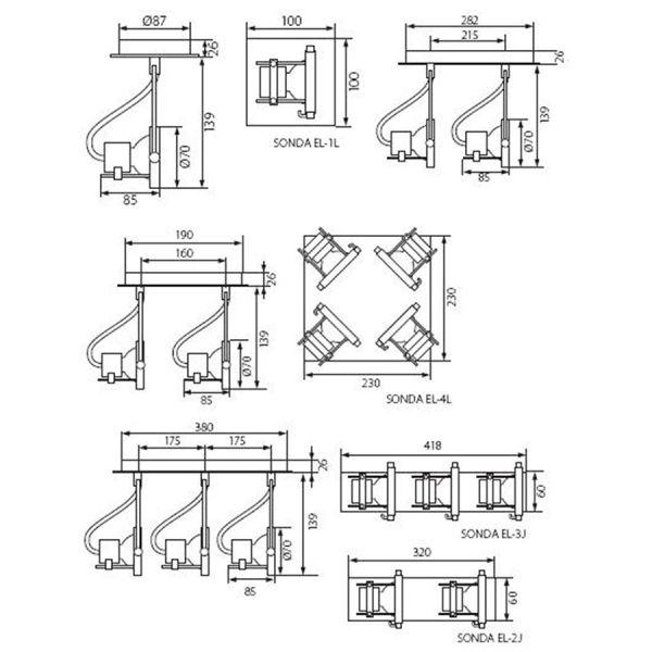 Plafonnier design 1 SPOT orientable