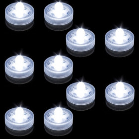 Lot de 10 Lampions submersibles led blanche