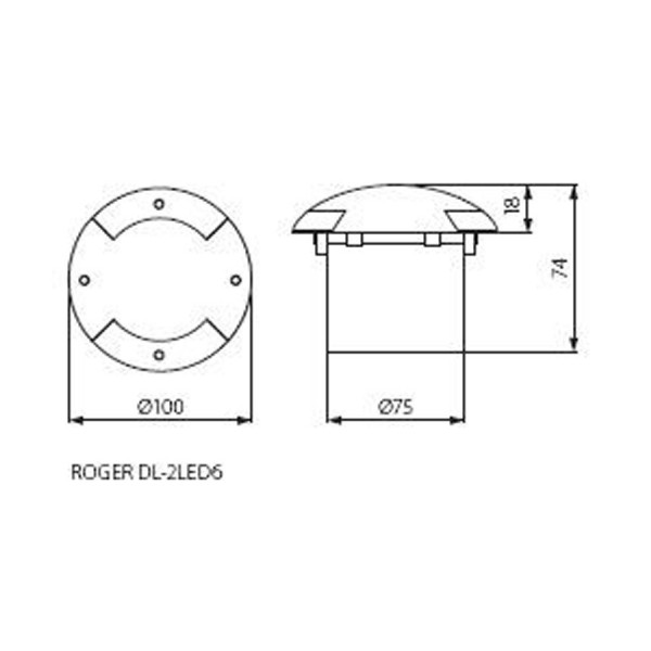 Luminaire de sol KANLUX ROGER DL-2LED6