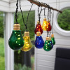 Guirlande solaire PARTY de 10 ampoules multicolores
