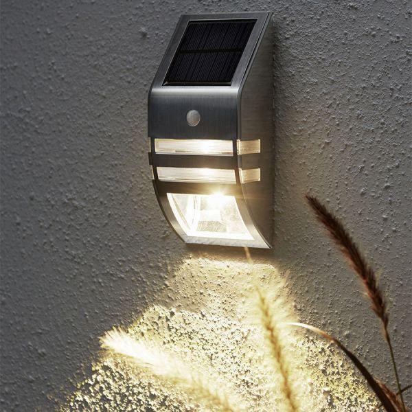 applique mural solaire wally avec d tecteur de mouvement eclairage design. Black Bedroom Furniture Sets. Home Design Ideas
