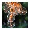 Guirlande de 10 ampoules transparentes blanc chaud