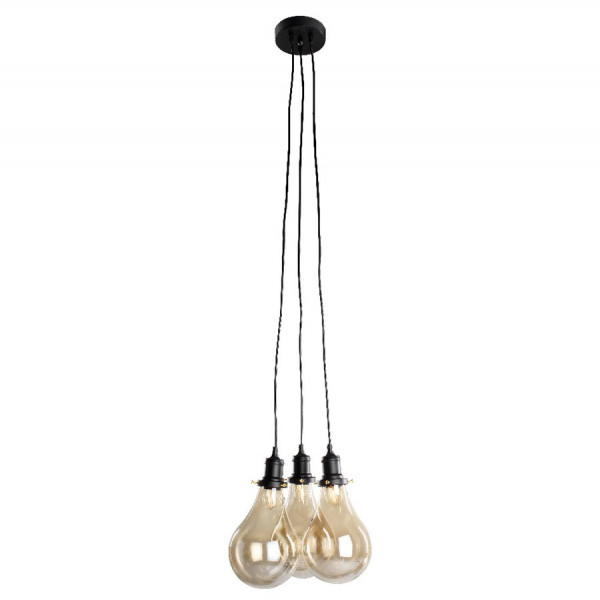 Suspension De Trois Ampoules E27 Xl Type Vintage