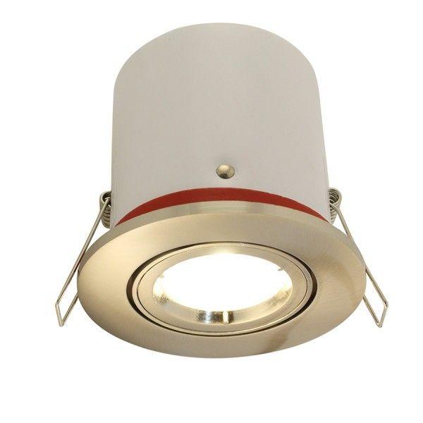 Spot orientable acier brossé BBC Avec spot LED GU10 350 Lm