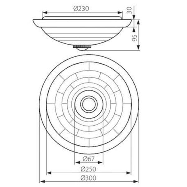 Techo FOGLER DL-2400 blanco con detector de movimiento