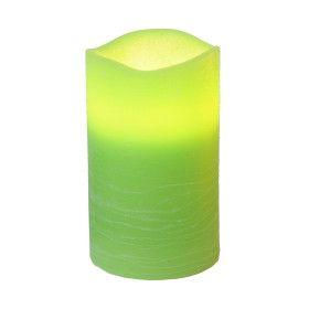 Bougie LED décorative verte avec minuteur