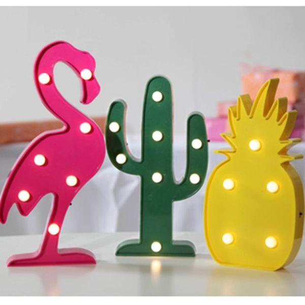 Lot de 3 figurines décoratives LED