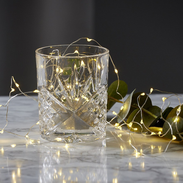 guirlande micro led pour decoration verre ou vase 20 leds eclairage design. Black Bedroom Furniture Sets. Home Design Ideas
