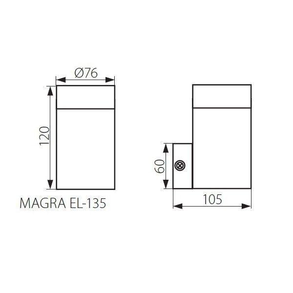 Aplique de pared MAGRA EL 135