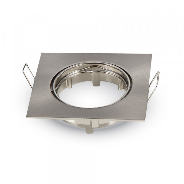 Spot orientable carré Satin Nickel