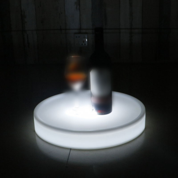 Plateau lumineux rond LED rechargeable