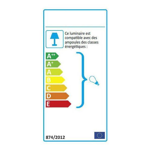 Applique torche anthracite arles E27 détecteur de mouvement