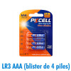 Piles AAA LR3 Ultra Alcaline PKCell 1.5V