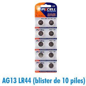 Lot de 10 piles bouton AG13 LR44