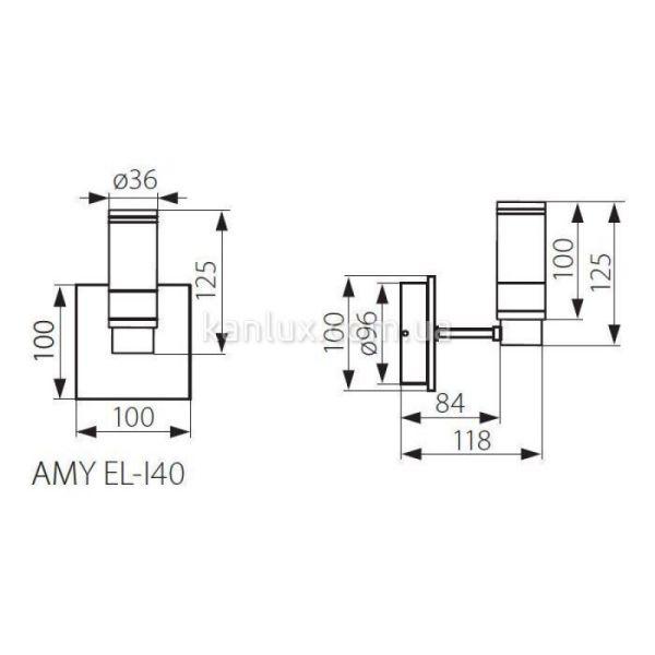 Applique IP44 1X40W 220V G9 chrome satin