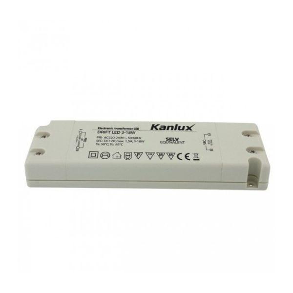 Transformateur 18W 220V - 12V pour LED intérieur