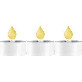Lot de 3 Bougies led solaire blanc chaud