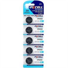 Lot de 5 piles Lihtium CR2032 PKCELL
