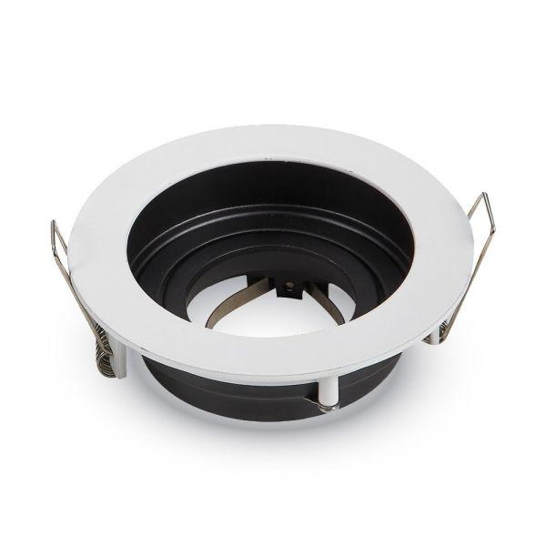 El apoyo de la ronda de techo de aluminio Blanco