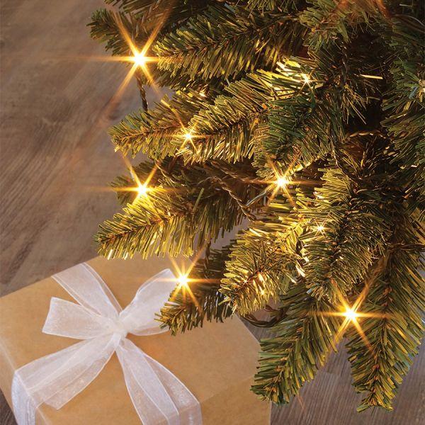 Guirlande FLICKER LIGHT 8m 104LED Blanc chaud + 24 LED flash Blanc pur