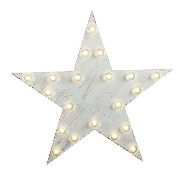 Deco Estrella de Madera LED diámetro de 35 cm de la batería