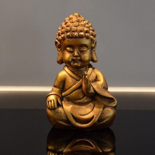 Statuette Bouddha doré