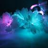 Guirlande fleurs blanches fibre optique RGB