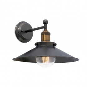 Applique Murale MARLIN E27 25W NOIR + OR FARO