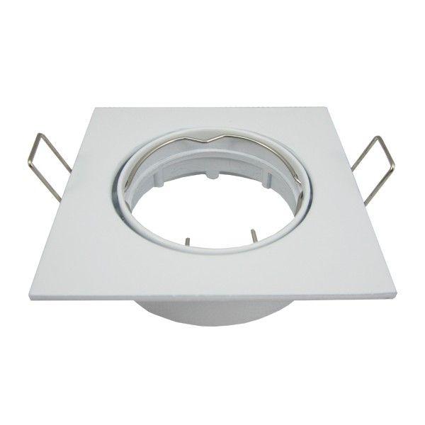 Spot ajustable cuadrado blanco
