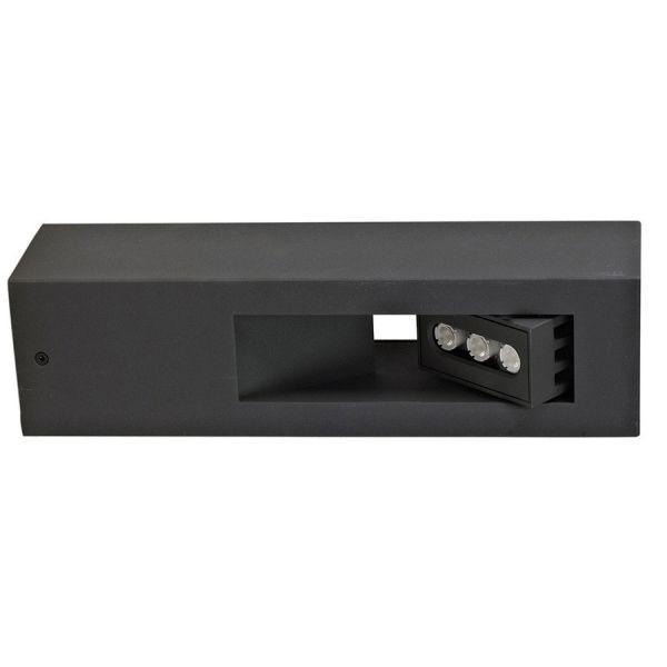 Applique LED orientable aluminium gris FILO 300 Lumens
