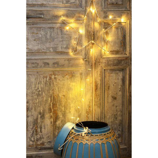 Motif Lumineux Etoile 30 LEDs Blanc Chaud