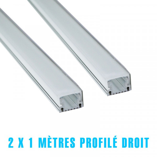 2 x 1 metre profilé droit