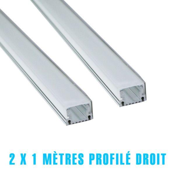 2 x 1 metro de perfil derecho