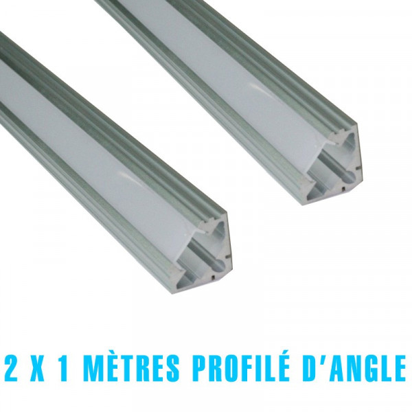 2 x 1 metre profilé d'angle