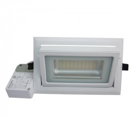 Spot LED Rectangulaire Inclinable pour magasin et bureau 40W