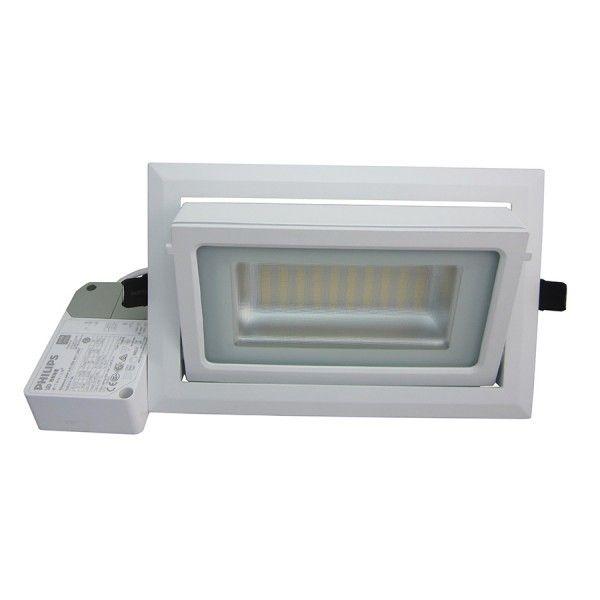 Spot LED Rectangulaire Inclinable pour magasin et bureau 40W