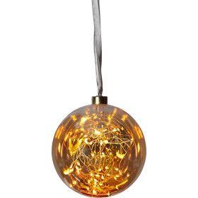 Boule de Noel Micro LED Ambrée