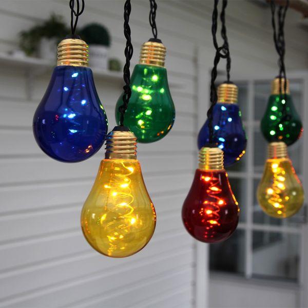 Guirlande 10 ampoules micro LED couleur