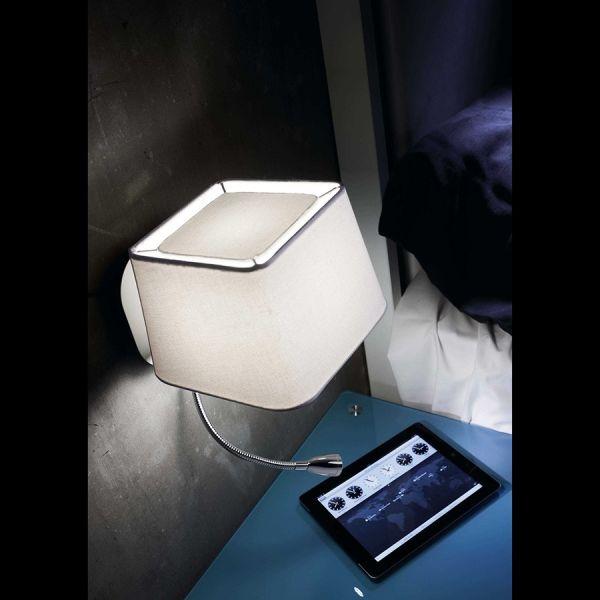 DULCE Lámpara de la lámpara de pared de color blanco con luz de lectura LED